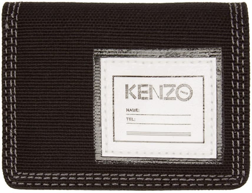 Kenzo Black Canvas Bifold Wallet