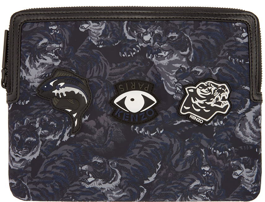 Kenzo Black and Navy Flying Tiger Ipad Case