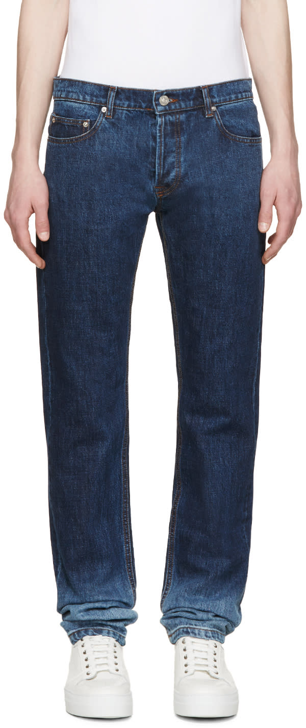 Kenzo Indigo Faded Jeans