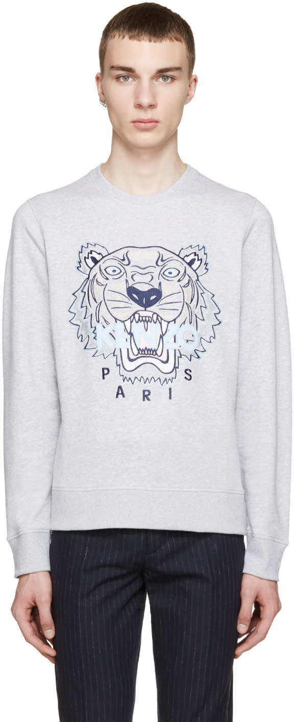 Kenzo Ssense Exclusive Grey Tiger Logo Sweatshirt