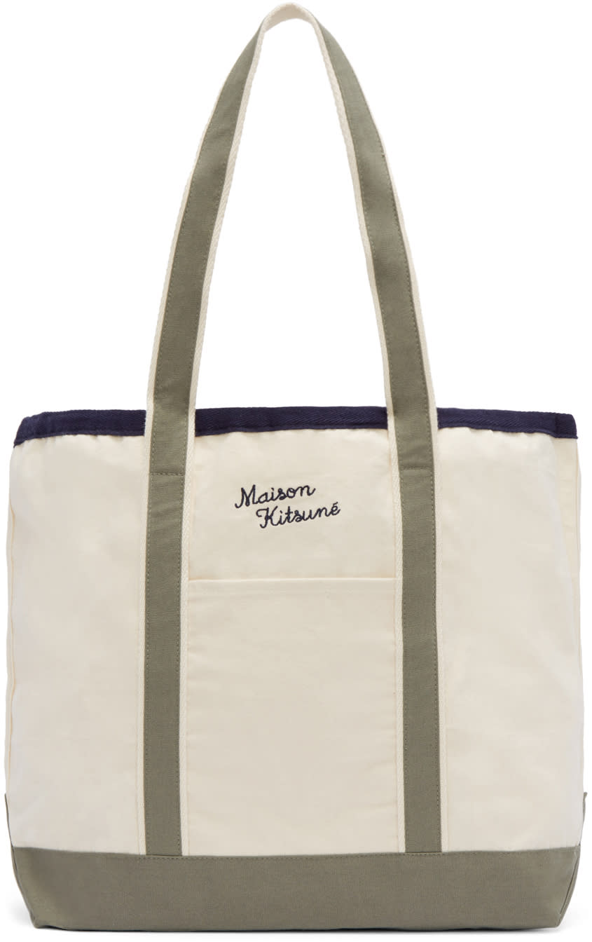 Maison Kitsuné Off-white Richelieu Tote Bag