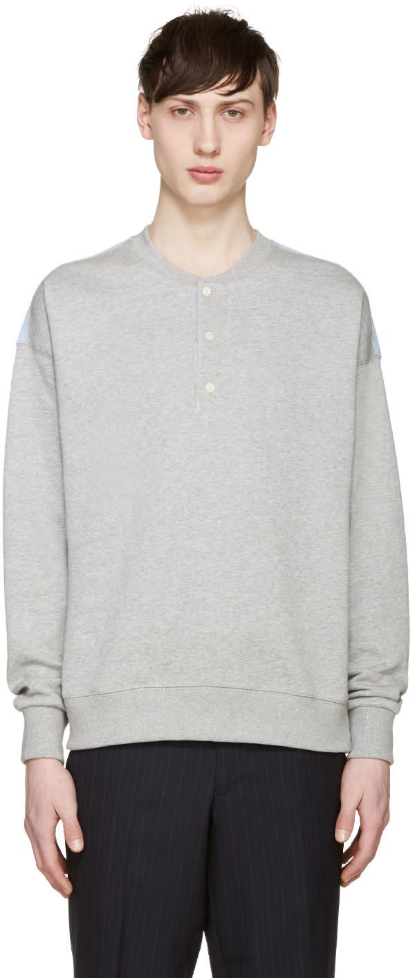 Maison Kitsuné Grey Henley Sweatshirt