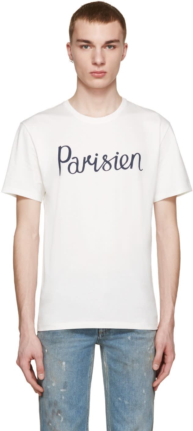 Maison Kitsuné White Parisien T-shirt