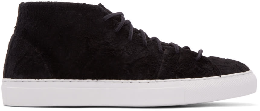 Diemme Ssense Exclusive Black Rough Mohawk Mid-top Sneakers