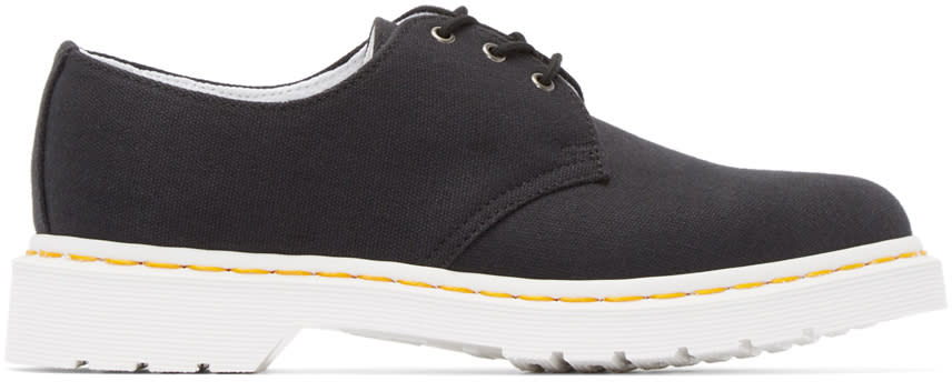 Dr. Martens Black Canvas 3-eye Lester Derbys