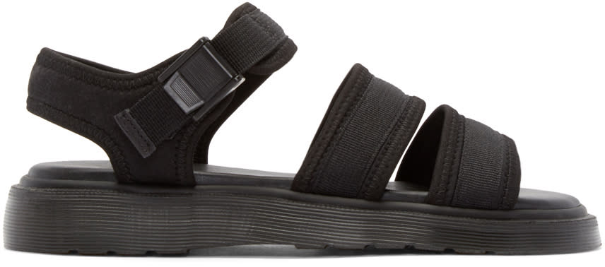 Dr. Martens Black Effra Tech 2-strap Sandals