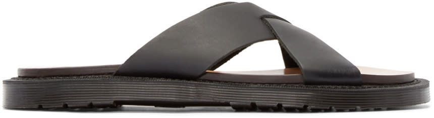 Dr. Martens Black Leather Platt Sandal