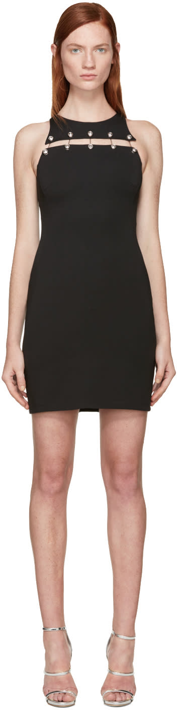 Versus Black Staple Cut-out Dress