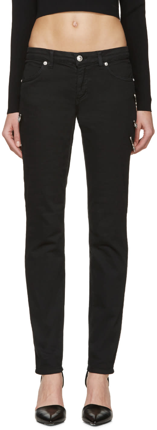 Versus Black Safety Pin Jeans
