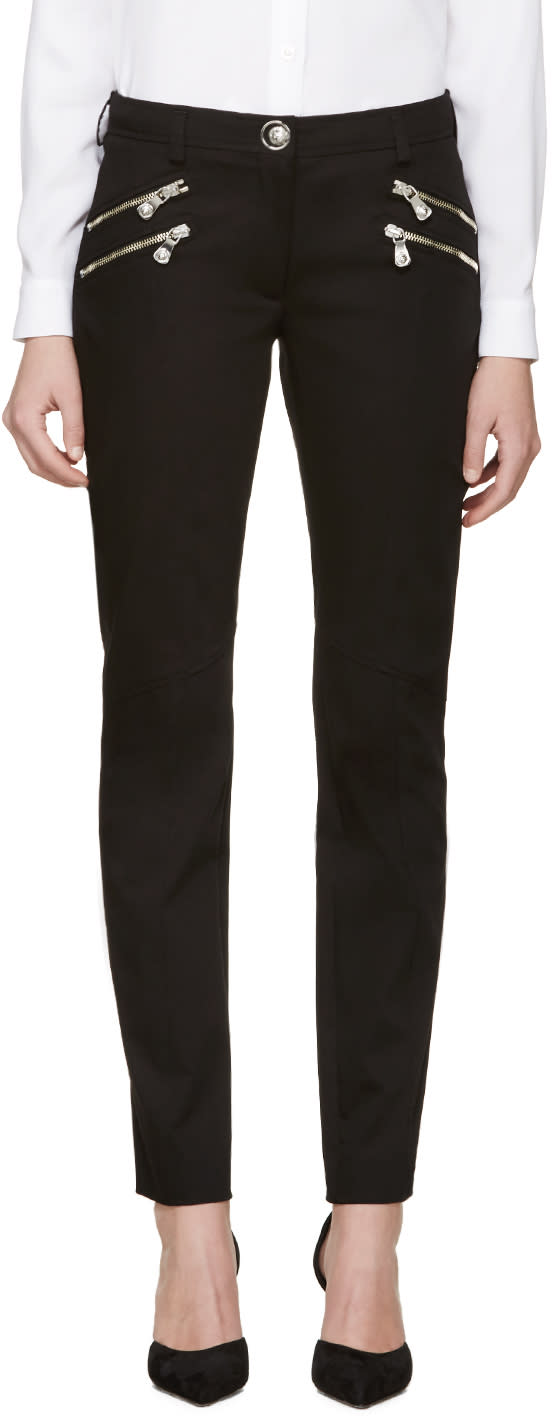 Versus Black Zippered Trousers