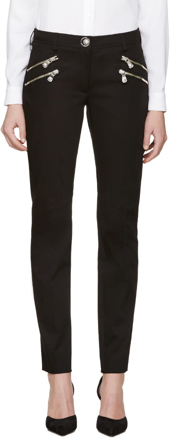 Versus Black Zippered Trousers