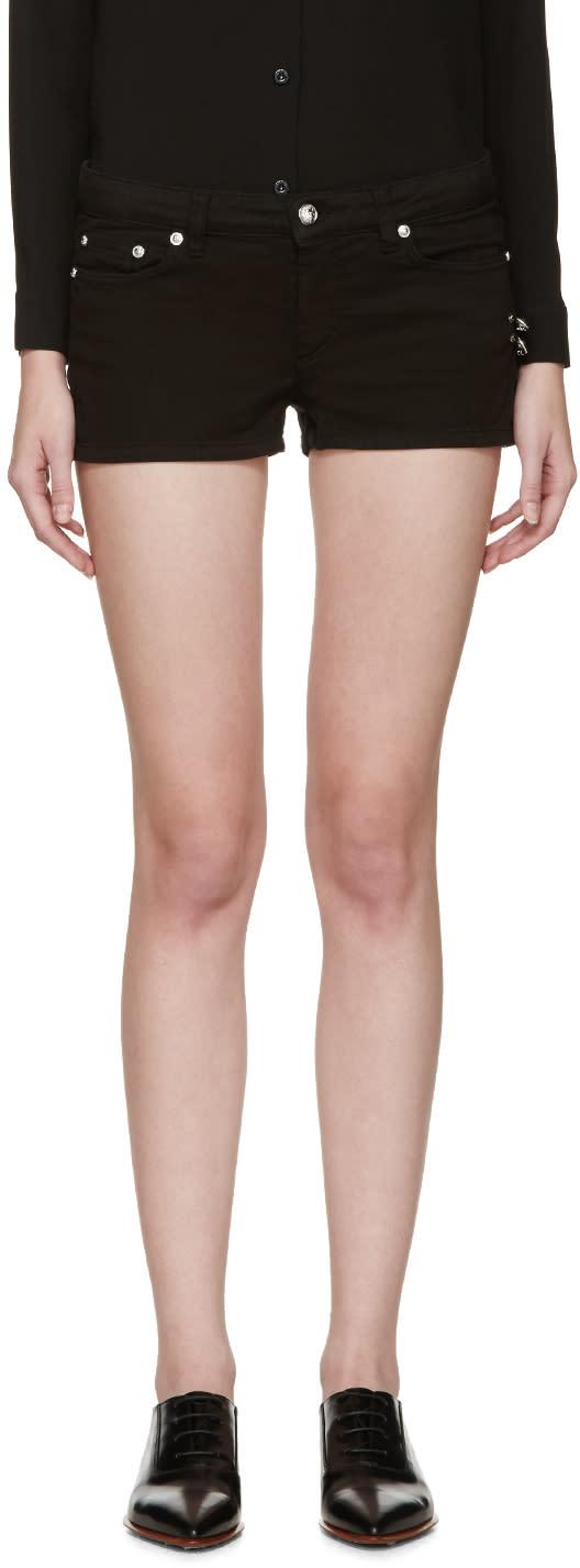 Versus Black Safety-pin Shorts