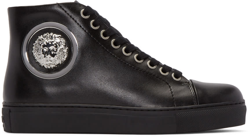 Versus Black Lion High-top Sneakers