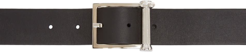 Versus Black Leather Pillar Anthony Vaccarello Edition Belt