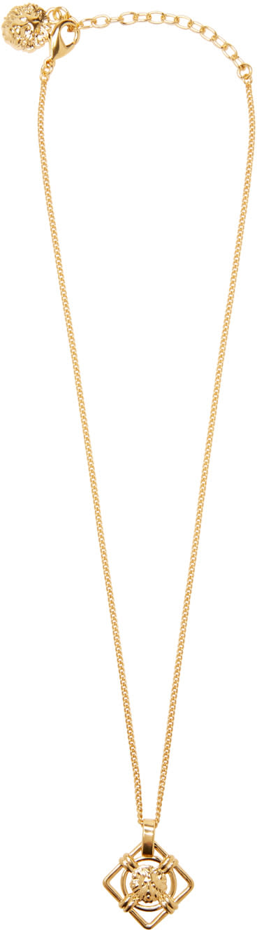 Versus Gold Lion Pendant Necklace