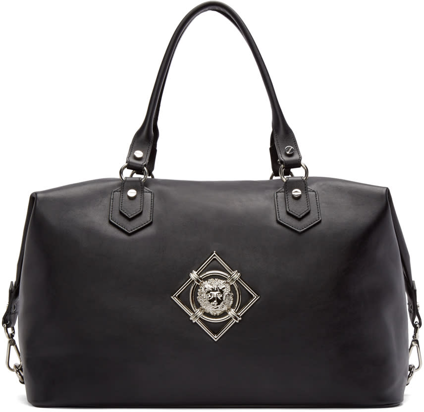 Versus Black Leather Duffle Bag