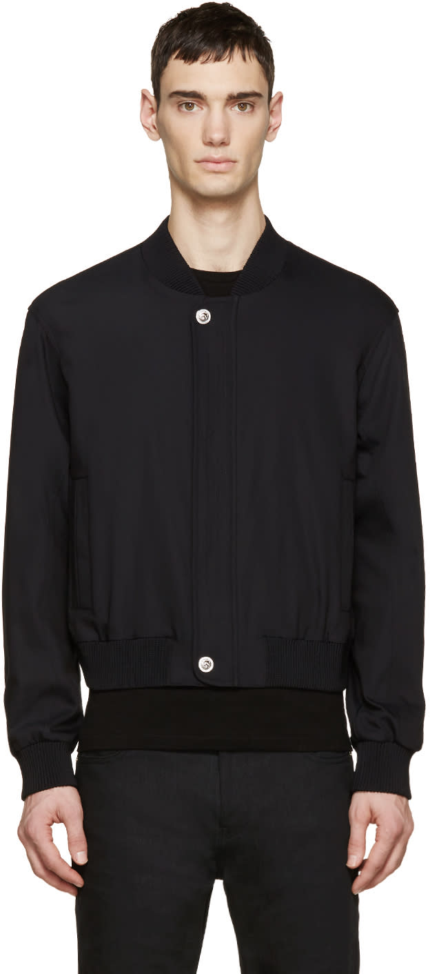 Versus Black Bomber Jacket