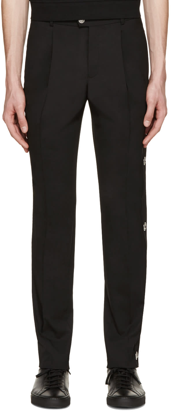 Versus Black Lion Medallion Trousers