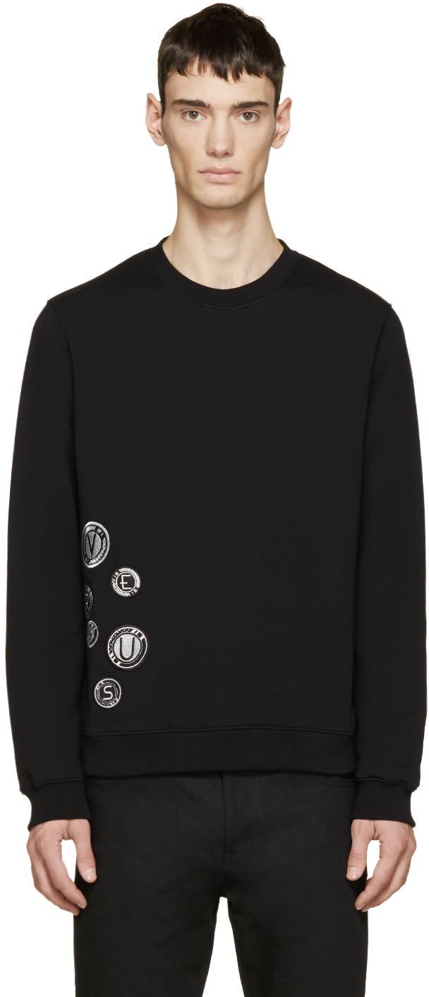 Versus Black Embroidered Logo Medallion Sweatshirt
