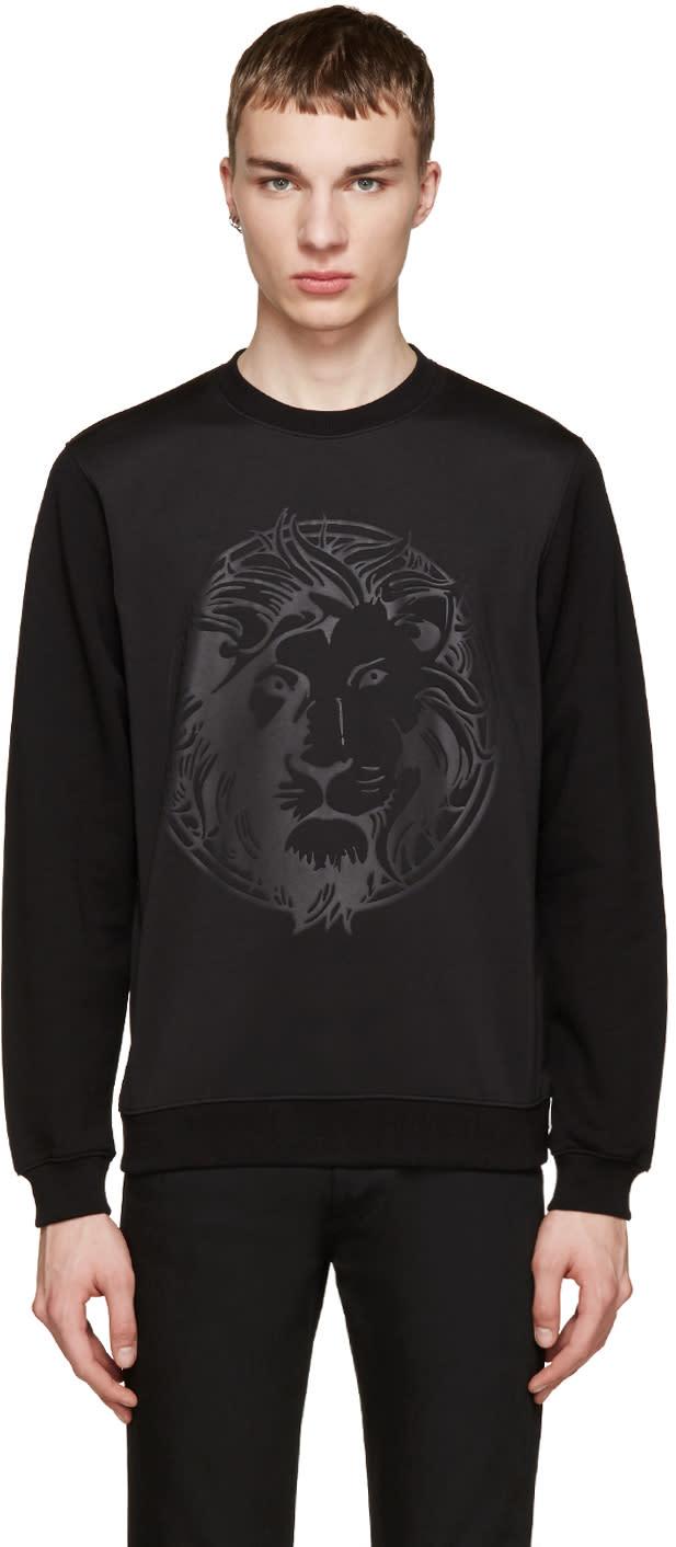 Versus Black Embossed Lion Sweatshirt