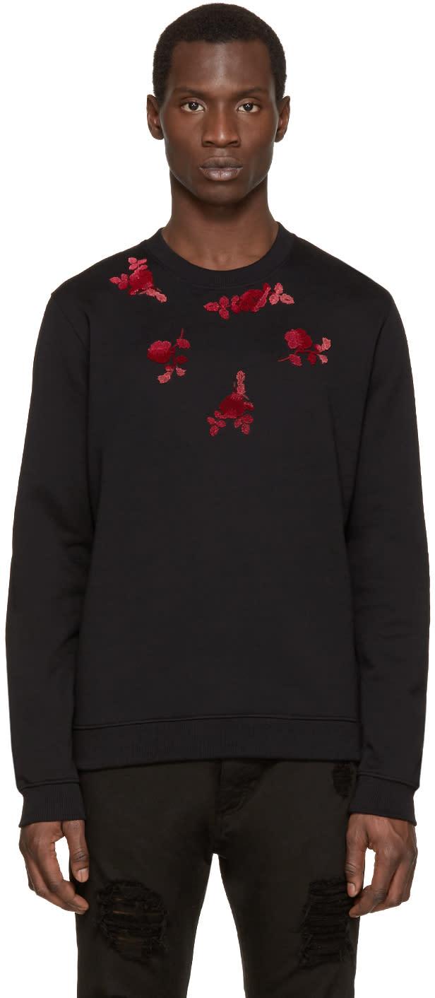 Versus Black and Pink Floral Sweatshirt