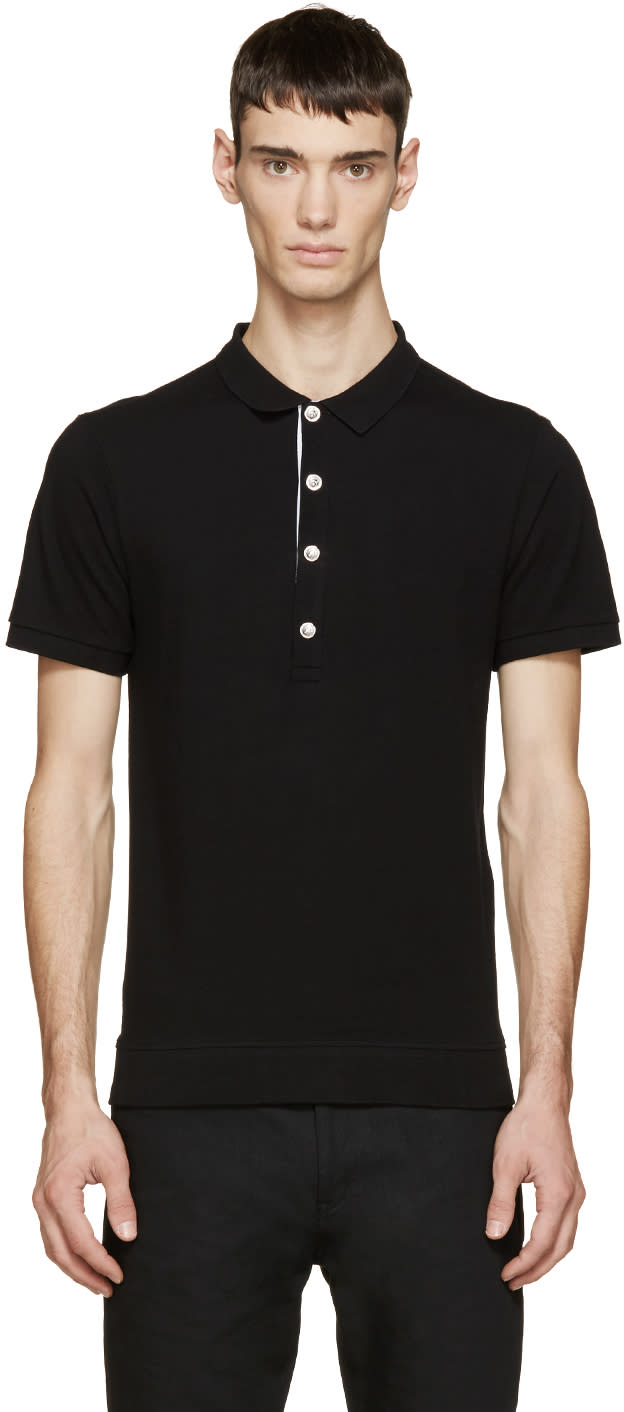 Versus Black and Silver Classic Polo