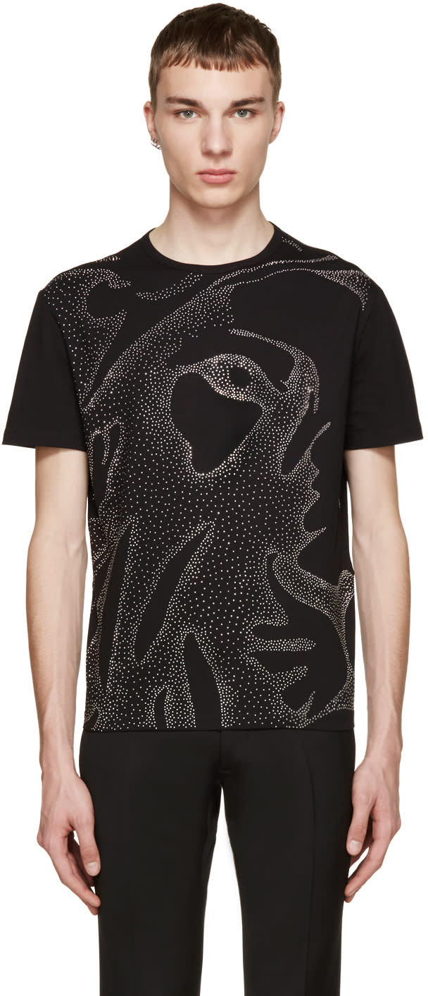Versus Black Studded Lion T-shirt