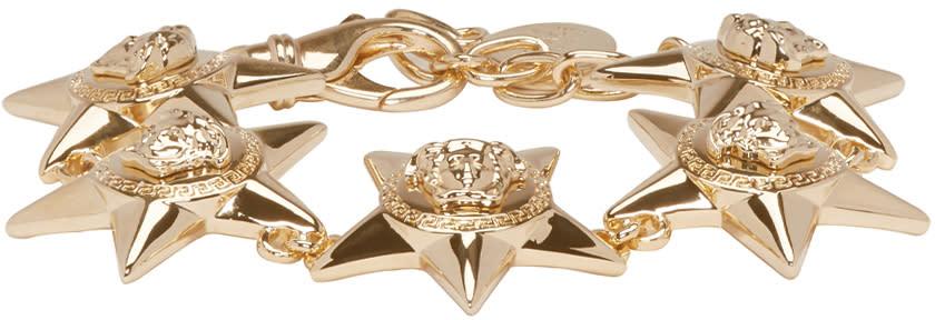 Versace Gold Medusa Stars Bracelet
