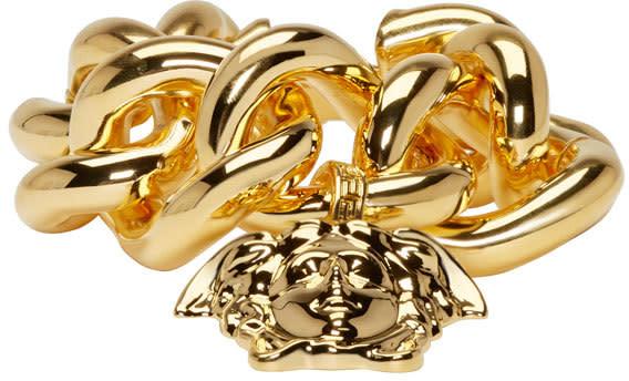 Versace Gold Thick Chain Medusa Bracelet