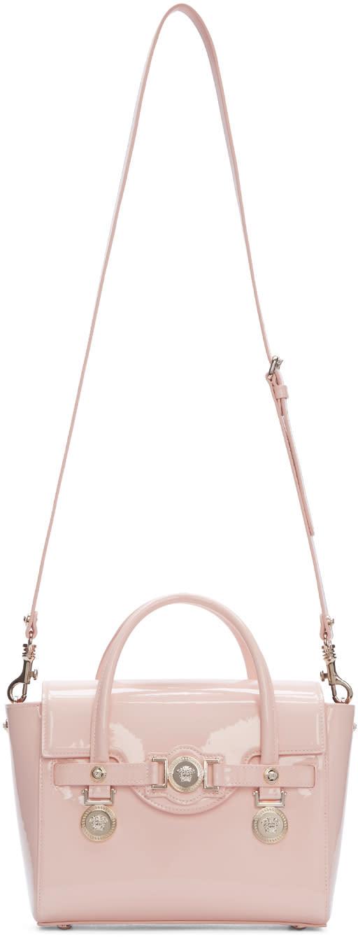 Versace Pink Leather Medusa Medallion Satchel