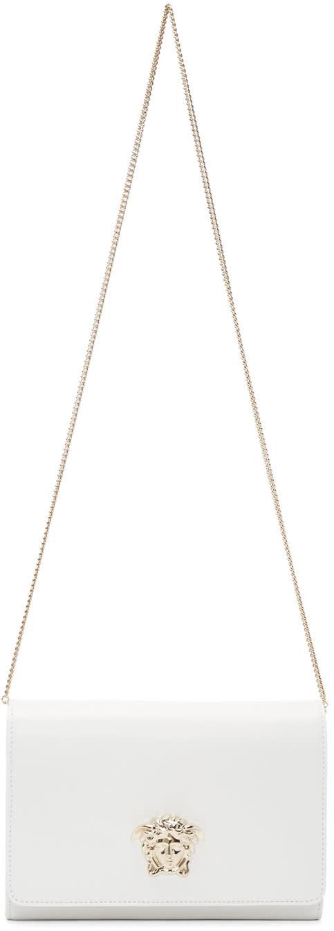 Versace White Medusa Shoulder Bag