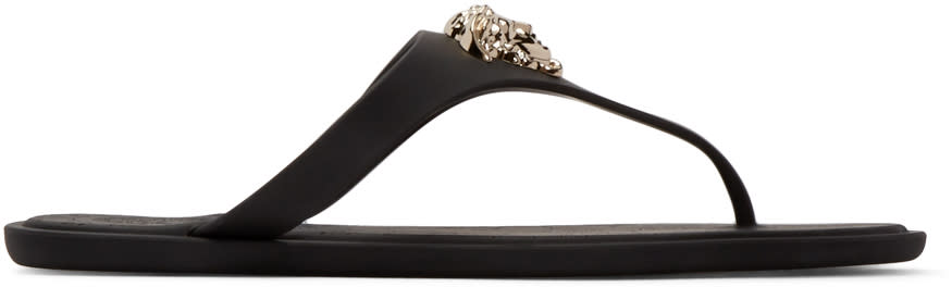 Versace Black Medusa Sandals