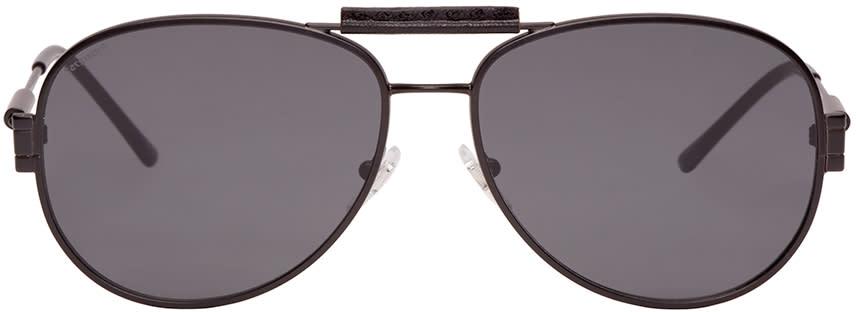 Versace Black Aviator Sunglasses