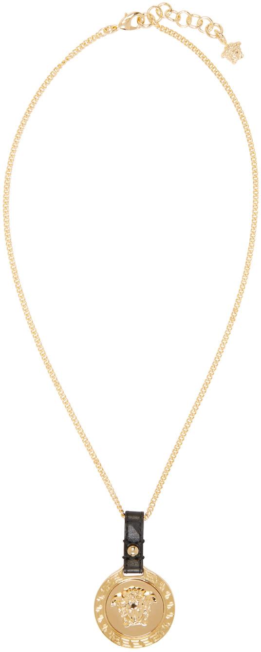 Versace Gold Medusa Pendant Necklace
