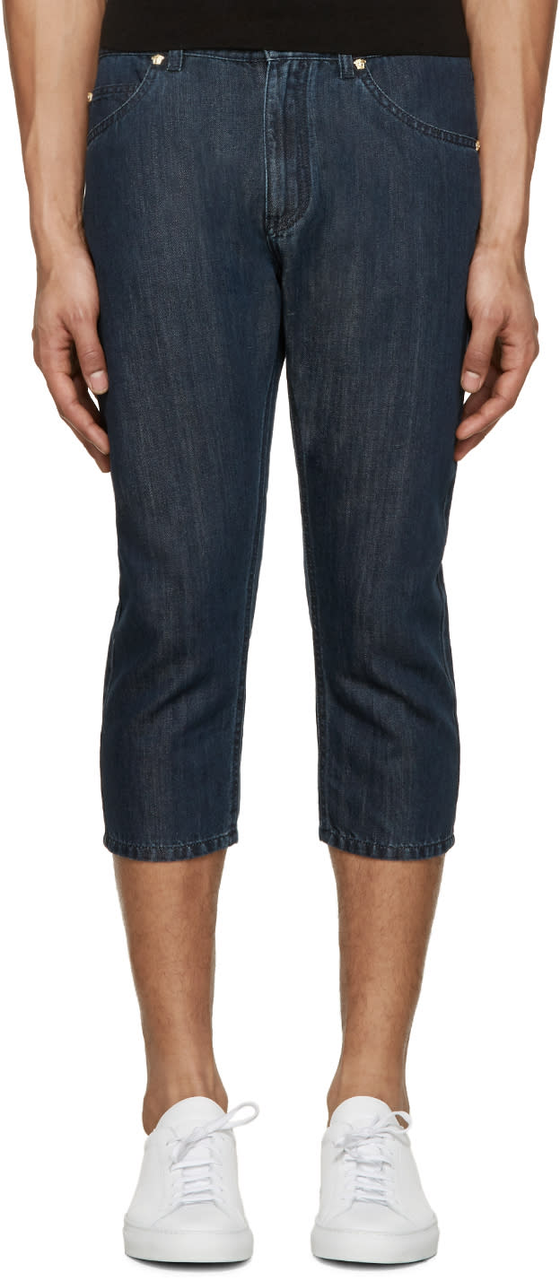 Versace Indigo Cropped Jeans