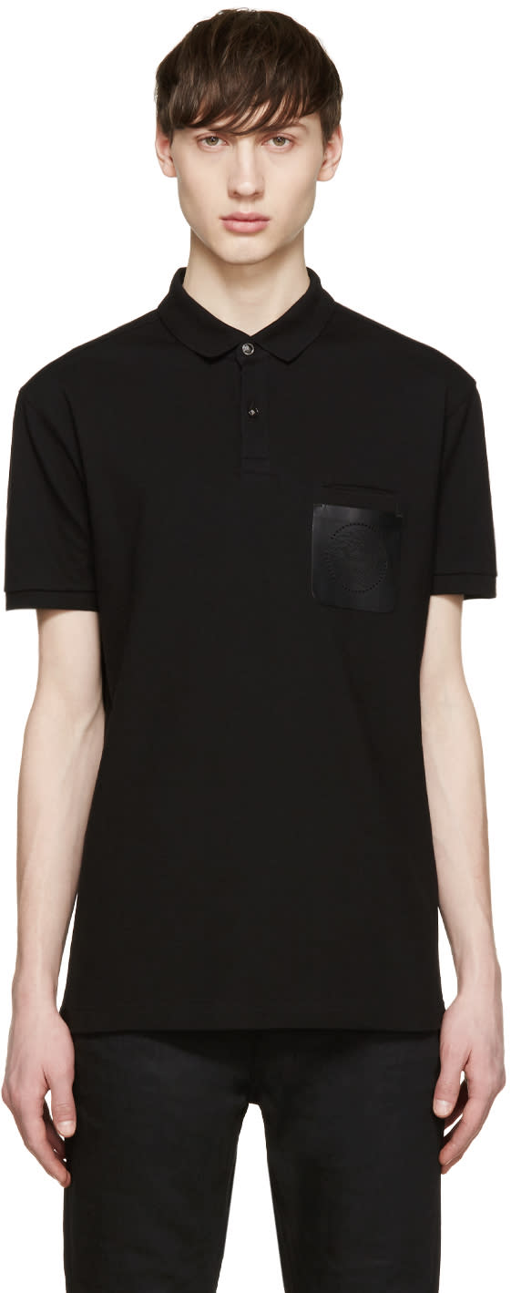 Versace Black Medusa Pocket Polo