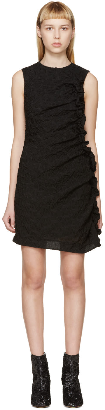 Simone Rocha Black Organza Ruffled Dress