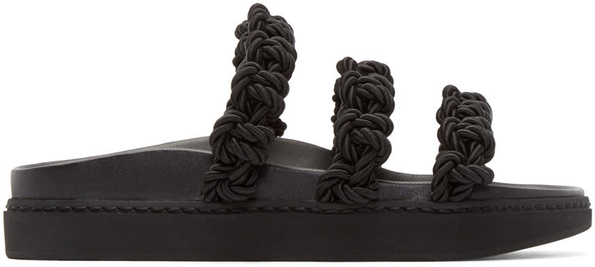 Simone Rocha Black Knotted Strap Sandals