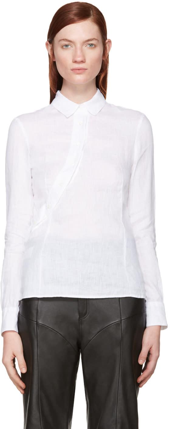 Altuzarra White Linen Martial Shirt