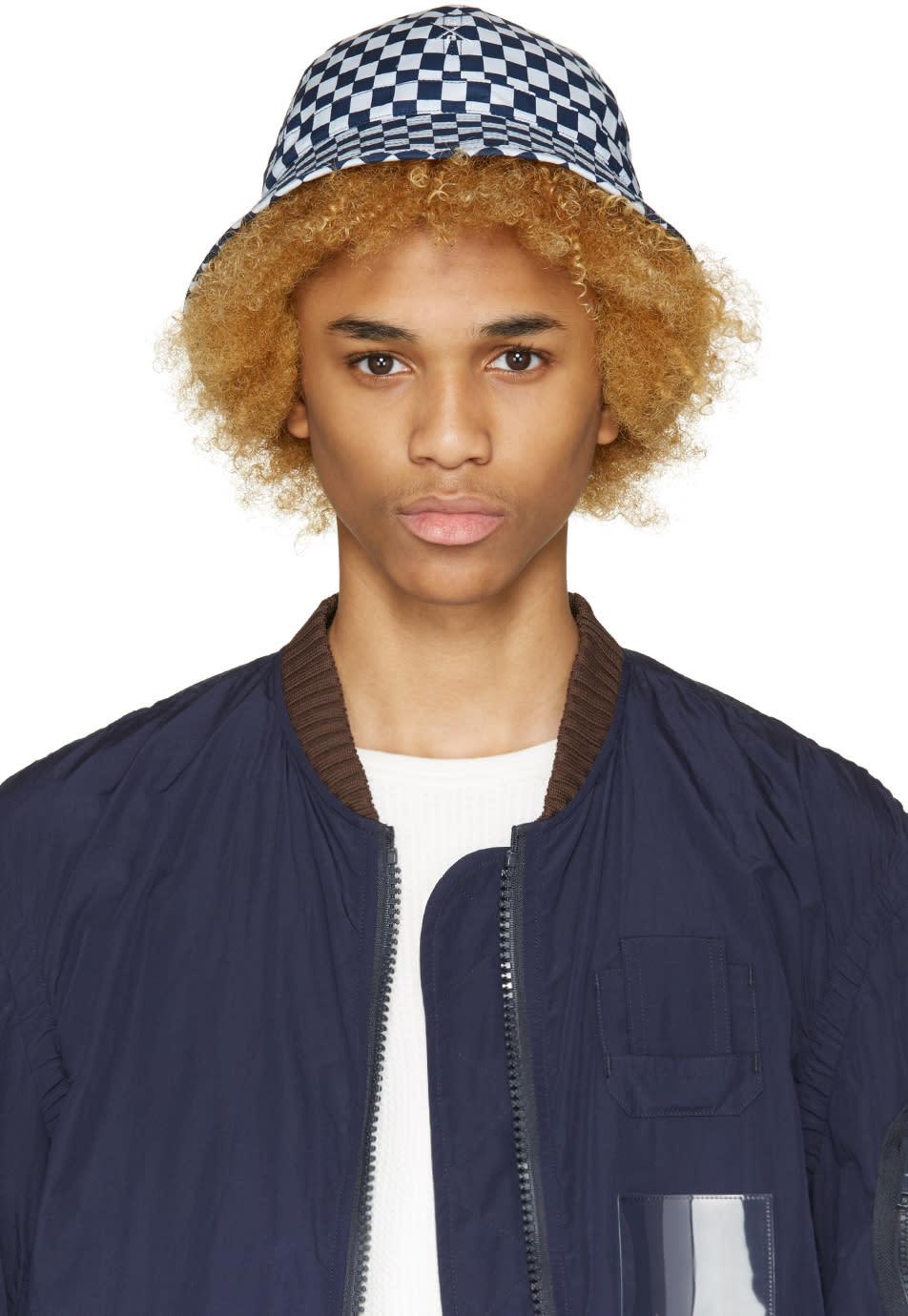 Sasquatchfabrix Blue Check Bucket Hat
