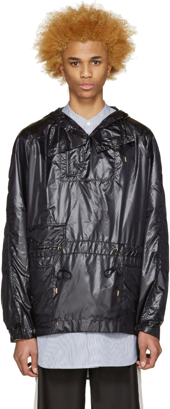 Sasquatchfabrix Black Nylon Pullover Jacket
