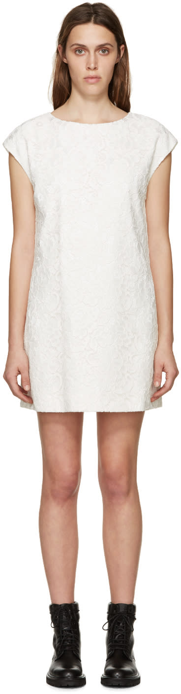 Saint Laurent Ivory Lace Dress