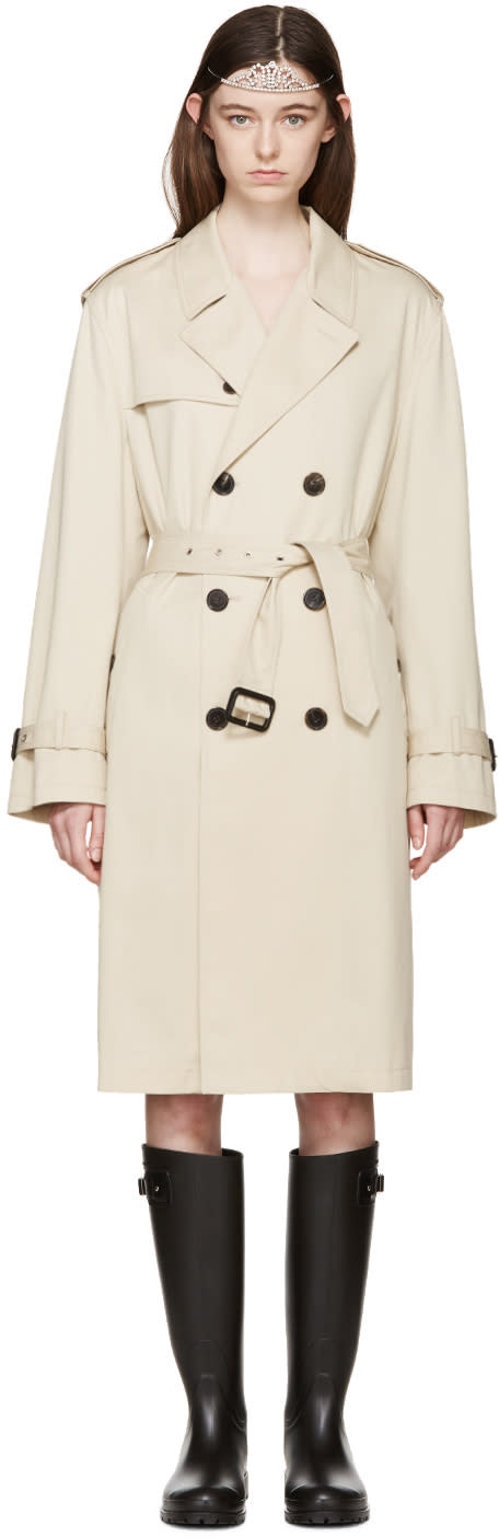 Saint Laurent Tan Trench Coat