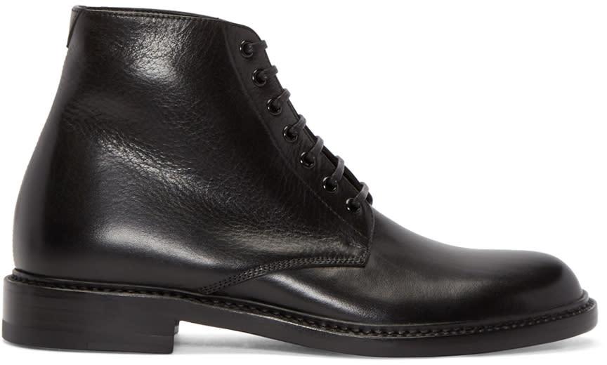 Saint Laurent Black Leather Lolita Boots