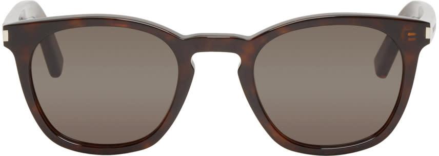 Saint Laurent Tortoiseshell Sl 28 Sunglasses