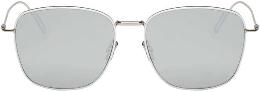 Image of Dior Homme Silver Composit 1.1 Sunglasses