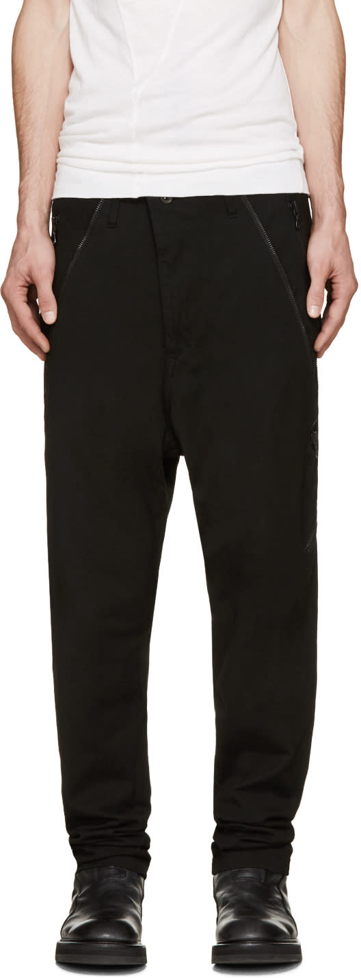 Julius Black Twill Harem Jeans