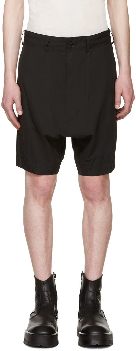Julius Black Cotton Shorts