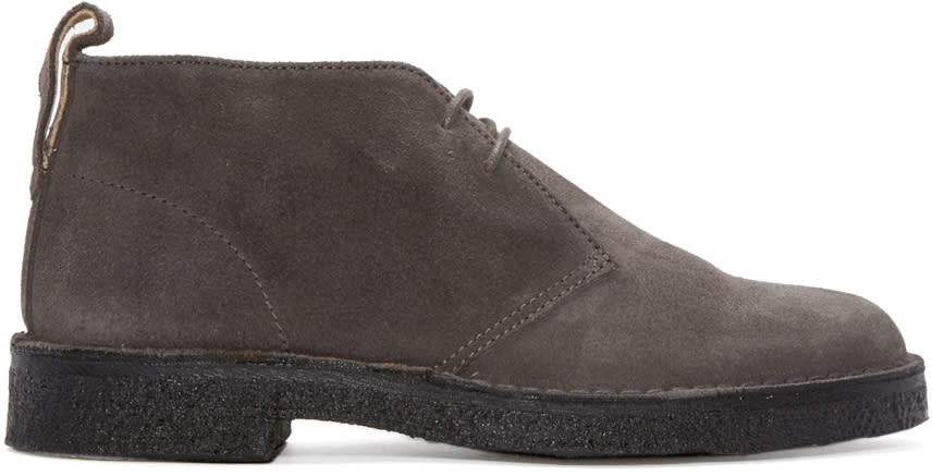 Ps By Paul Smith Grey Suede Sleater Desert Boots