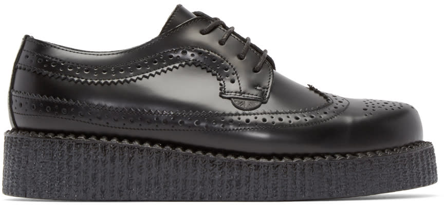 Underground Black Leather Macbeth Brogues